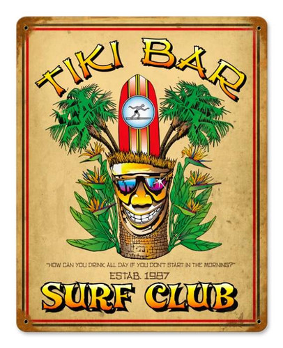 Vintage-Retro Tiki Bar Metal-Tin Sign