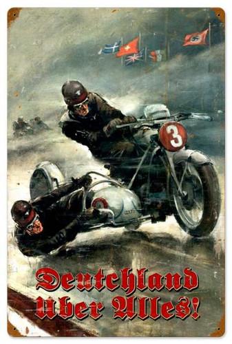 Vintage-Retro German Motorcycle Metal-Tin Sign 16 x 24 Inches