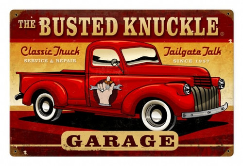 Vintage  Classic Truck Metal Sign