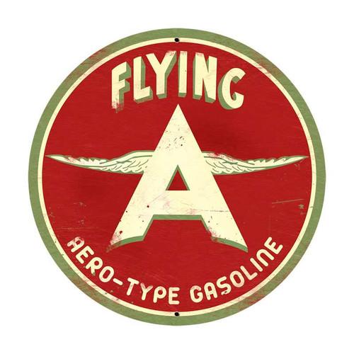 Retro Flying A Original Tin Sign 28 x 28 Inches