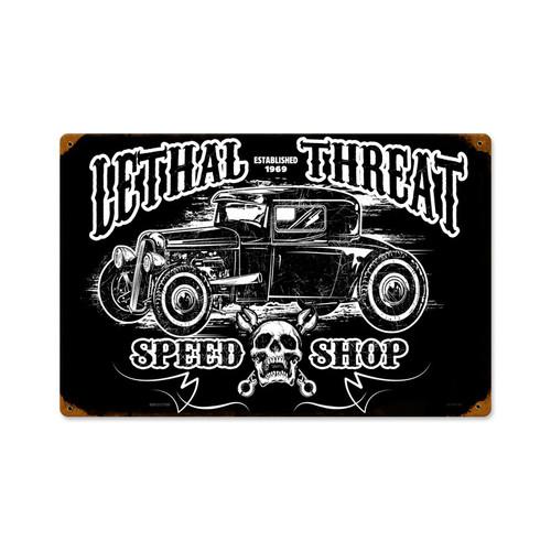 Retro Hot Rod Speedshop Metal Sign 18 x 12 Inches