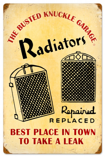Vintage-Retro Radiator Service Metal-Tin Sign