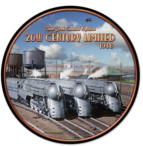 20th Century Trio Round Metal Sign 14 x 14 Inches
