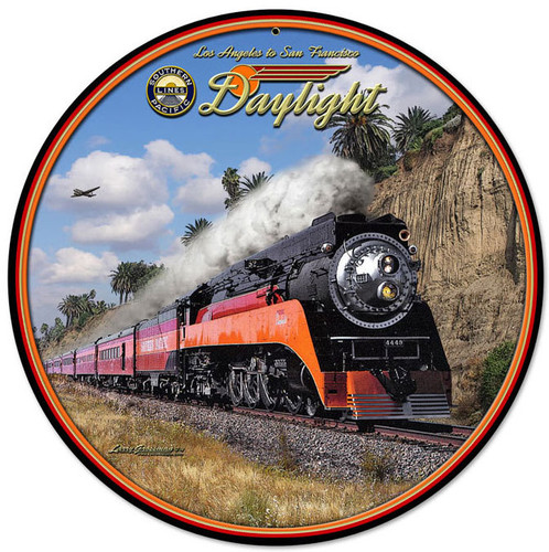Daylight Round Metal Sign 14 x 14 Inches