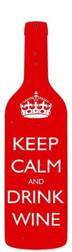 Keep Calm Custom Shape Metal Sign 8 x 26 Inches