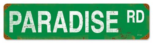 Vintage-Retro Paradise Road Metal-Tin Sign