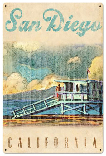 San Diego Life Guard Metal Sign 24 x 36 Inches