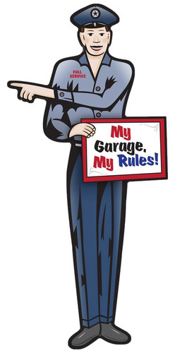 Garage Guy Metal Sign 12 x 24 Inches