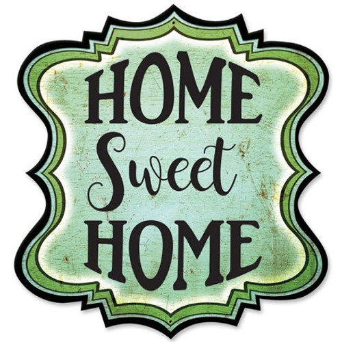 Home Sweet Home Metal Sign 14 x 14 Inches