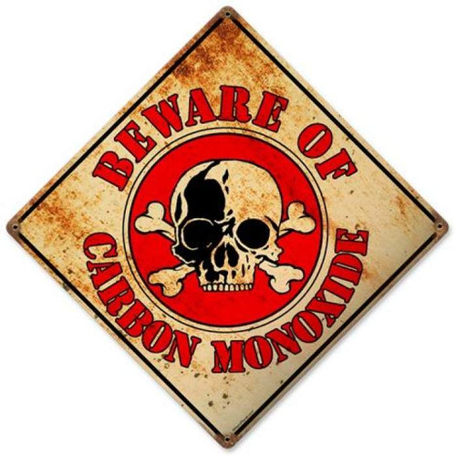Vintage-Retro Beware Metal-Tin Sign