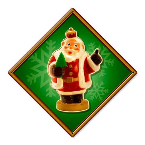 Vintage-Retro Santa Crown Metal-Tin Sign