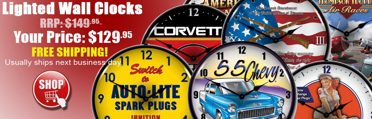 lighted wall clocks