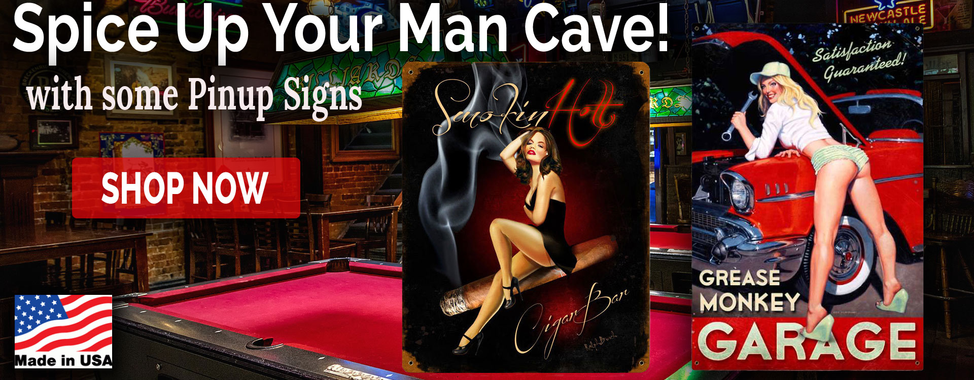 pinup metal signs