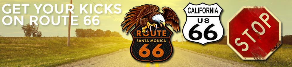 Shop route 66 tin signs