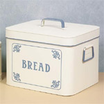 White blue Bread Bin