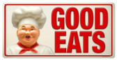 Vintage-Retro Good Eats Metal-Tin Sign LARGE