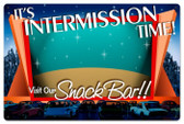 Vintage-Retro Drive In Intermission Metal-Tin Sign