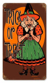 Vintage-Retro Halloween Witch Metal-Tin Sign
