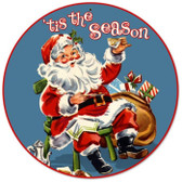 Vintage-Retro Tis The Season Round Metal-Tin Sign