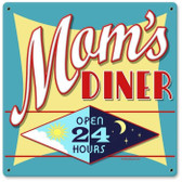 Vintage-Retro Mom's Diner Metal-Tin Sign 2