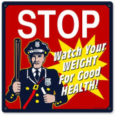 Vintage-Retro Stop Cop Metal-Tin Sign