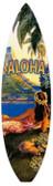 Vintage-Retro Hawaii Aloha Surfboard Metal-Tin Sign