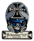 Vintage-Retro Schneider Cams Helmet Helmet Metal-Tin Sign