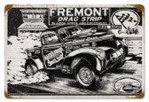 Vintage-Retro Freemont Drag Strip Metal-Tin Sign