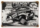 Vintage-Retro Freemont Drag Strip Metal-Tin Sign