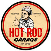 Vintage-Retro Hot Rod Garage Metal-Tin Sign