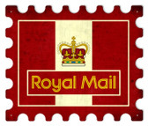 Vintage-Retro Royal Mail Stamp Metal-Tin Sign