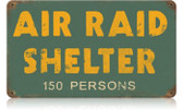 Vintage-Retro Air Raid Shelter Metal-Tin Sign