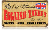 Vintage-Retro Old William's Tavern Metal-Tin Sign
