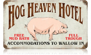 Vintage-Retro Hog Heaven Metal-Tin Sign