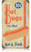 Vintage-Retro Hot Dogs Metal-Tin Sign 9