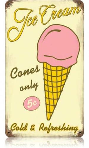 Vintage-Retro Ice Cream Metal-Tin Sign 3