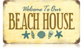 Vintage-Retro Beach House Metal-Tin Sign