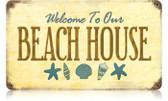 Vintage-Retro Beach House Metal-Tin Sign