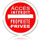 Vintage-Retro Access Interdit Round Metal-Tin Sign