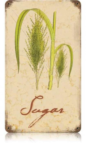 Vintage-Retro Sugar Metal-Tin Sign