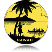 Vintage-Retro Hawaii Round Round Metal-Tin Sign