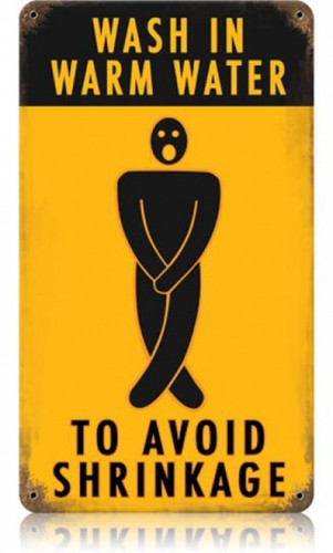Vintage-Retro Avoid Shrinkage Metal-Tin Sign