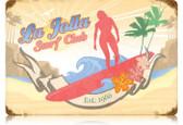 Vintage-Retro La Jolla Surf Metal-Tin Sign