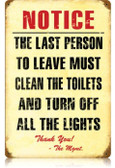 Vintage-Retro Clean Toilet Metal-Tin Sign