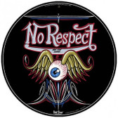 Vintage-Retro No Respect Round Metal-Tin Sign