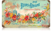 Vintage-Retro Fleurs Perfume Metal-Tin Sign