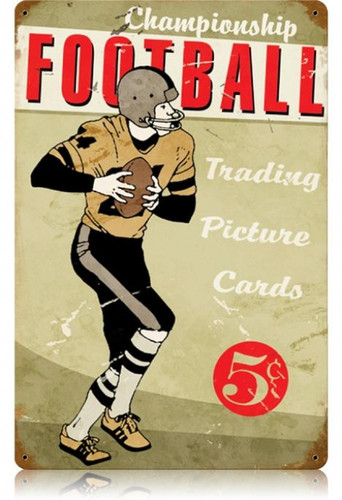 Vintage-Retro Football Metal-Tin Sign