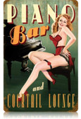 Vintage-Retro Piano Bar Metal-Tin Sign