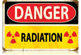 Vintage-Retro Danger Radiation Metal-Tin Sign
