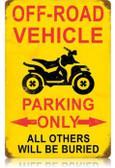 Vintage-Retro Off Road Parking Vintage-Retro Metal-Tin Sign LARGE